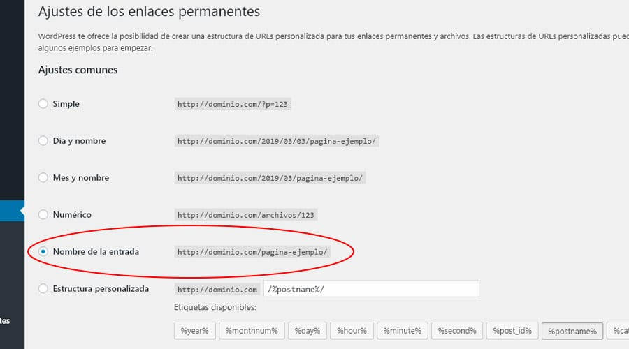 url amigables en wordpress