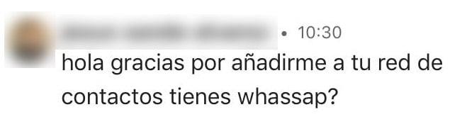 tienes wasap linkedin