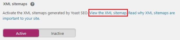 view sitemap yoast